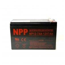 Akumuliatorius NPP 12V 7Ah