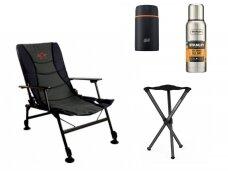 Kėdės, termosai, šašlykinės, rūkyklos