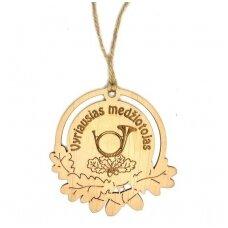 Dvigubas medinis medalis ''Vyriausias medžiotojas'' ''Nei žvyno nei plauko''