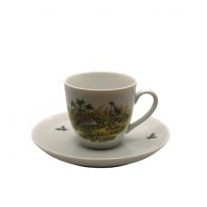 Espresso kavos puodelis su lėkštute slankų atvaizdu