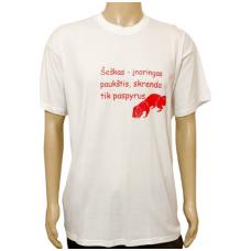 Marškinėliai medžiotojams su užrašu