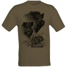 Marškinėliai su šernais