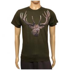 Marškinėliai su elnio atvaizdu Malfini