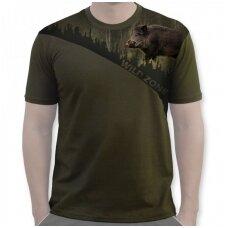 Marškinėliai su šernu Wildzone