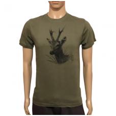 Marškinėliai su stirnino atvaizdu Malfini