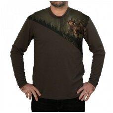 Marškinėliai wildzone ilgomis rankovėmis su elniu