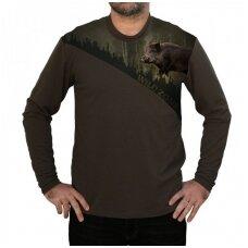 Marškinėliai wildzone ilgomis rankovėmis su šernu