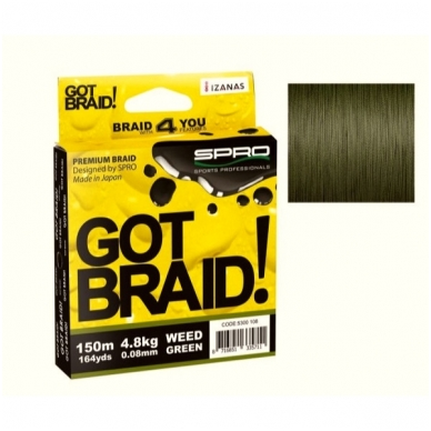 Pintas valas Spro Got Braid; Weed Green