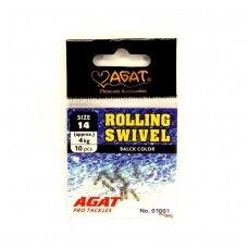 Suktukai Agat Rolling Swivel 10vnt