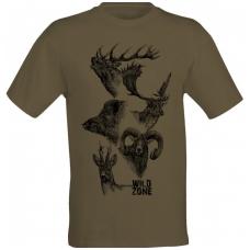wildzone marškinėliai su žvėrimis