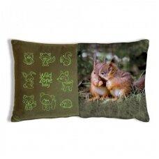 Wildzone vaikiška pagalvėlė su voveriukais