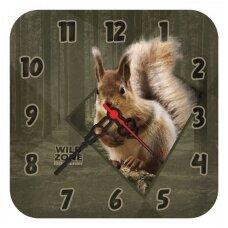 Vaikiškas laikrodis su vovere Wildzone 18x18cm