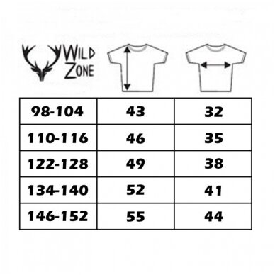 Wildzone vaikiški marškinėliai su lapiuku 2